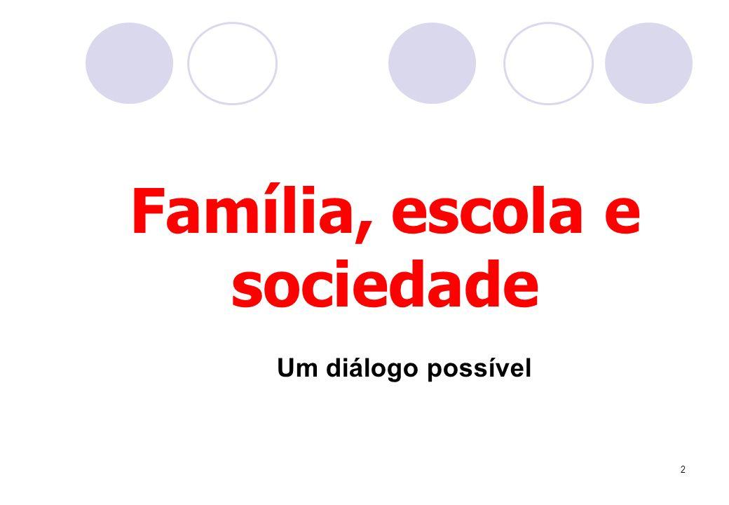 Família, escola e sociedade