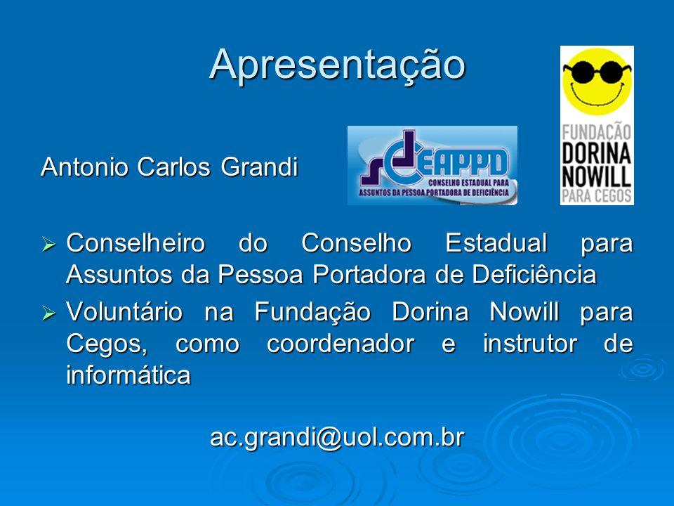 Apresentação Antonio Carlos Grandi