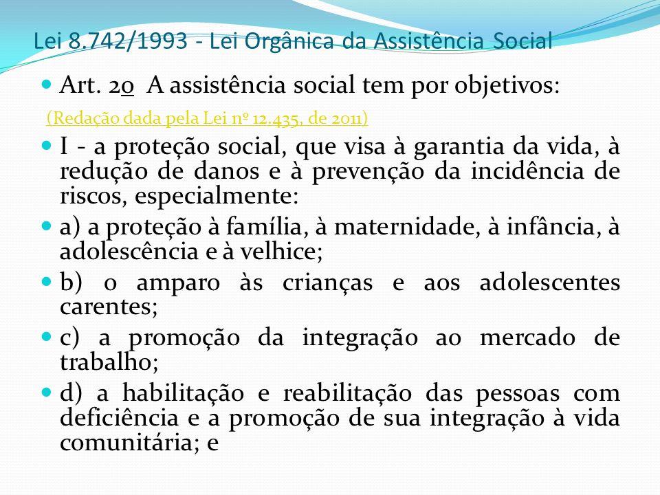 Lei 8.742/1993 - Lei Orgânica da Assistência Social