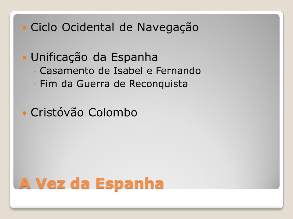 A Vez da Espanha Ciclo Ocidental de Navegação Unificação da Espanha