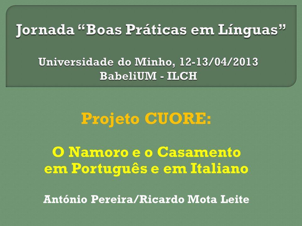 em Português e em Italiano António Pereira/Ricardo Mota Leite
