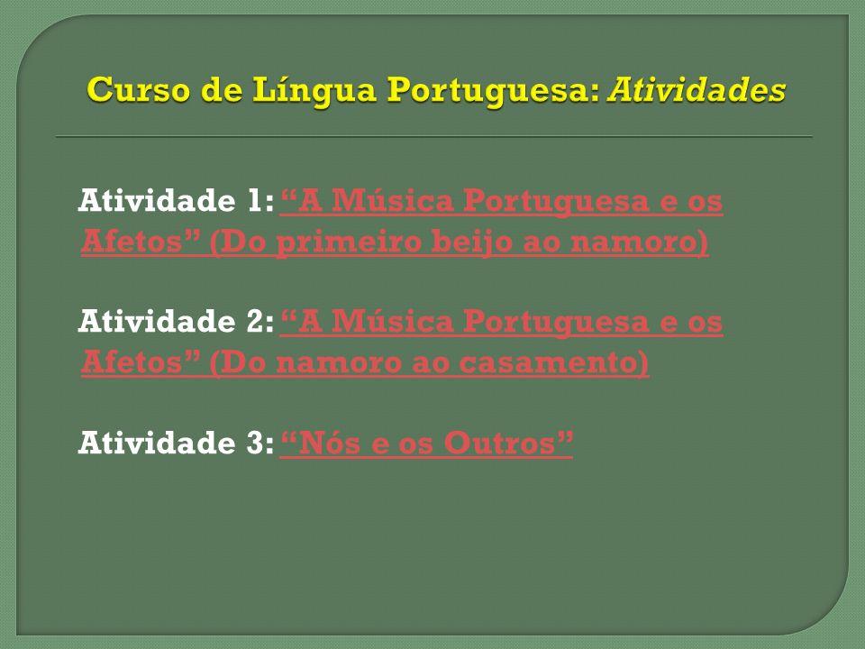 Curso de Língua Portuguesa: Atividades