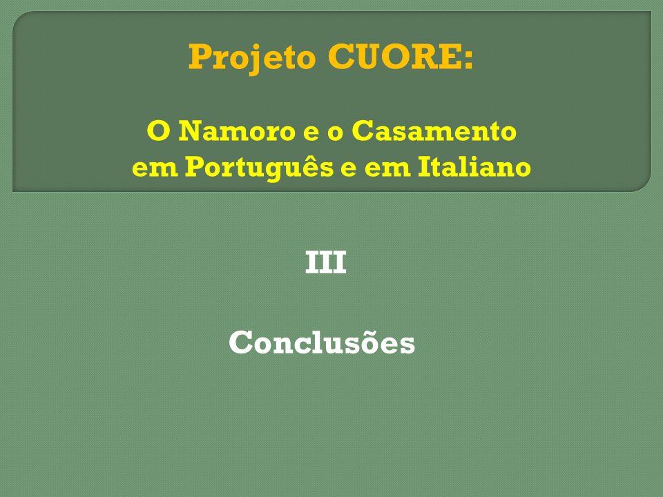 em Português e em Italiano