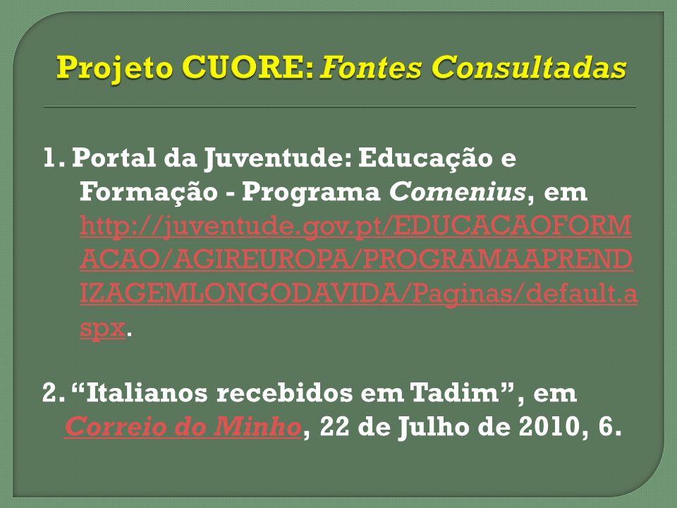 Projeto CUORE: Fontes Consultadas