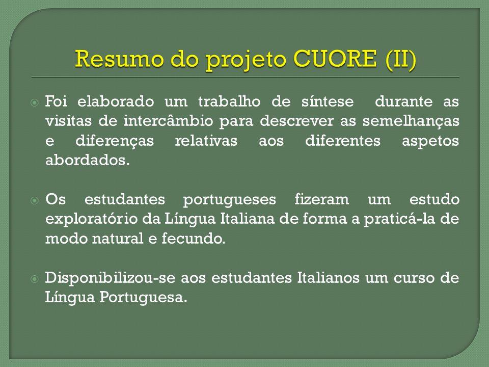 Resumo do projeto CUORE (II)