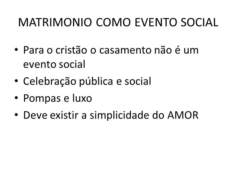 MATRIMONIO COMO EVENTO SOCIAL