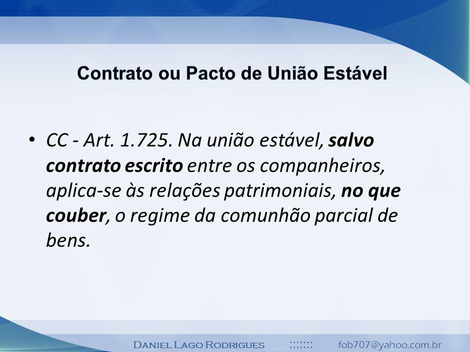 Contrato ou Pacto de União Estável