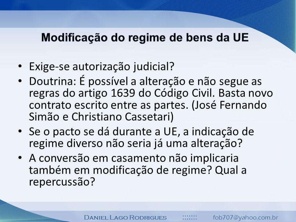 Modificação do regime de bens da UE
