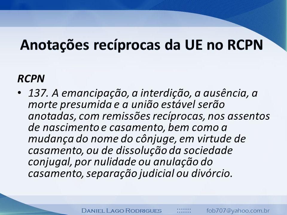 Anotações recíprocas da UE no RCPN