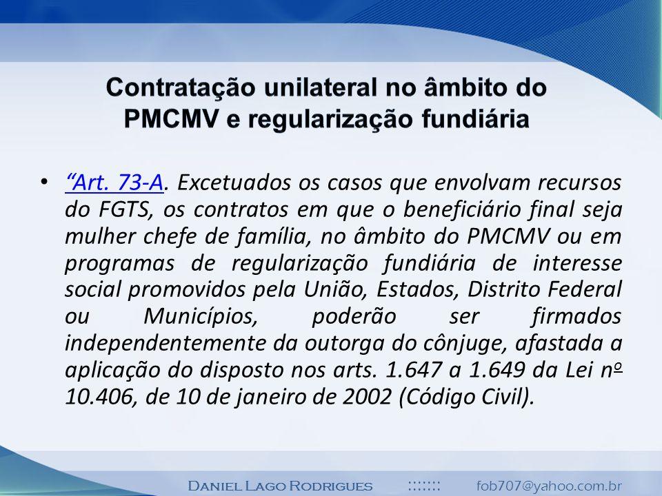 Contratação unilateral no âmbito do PMCMV e regularização fundiária