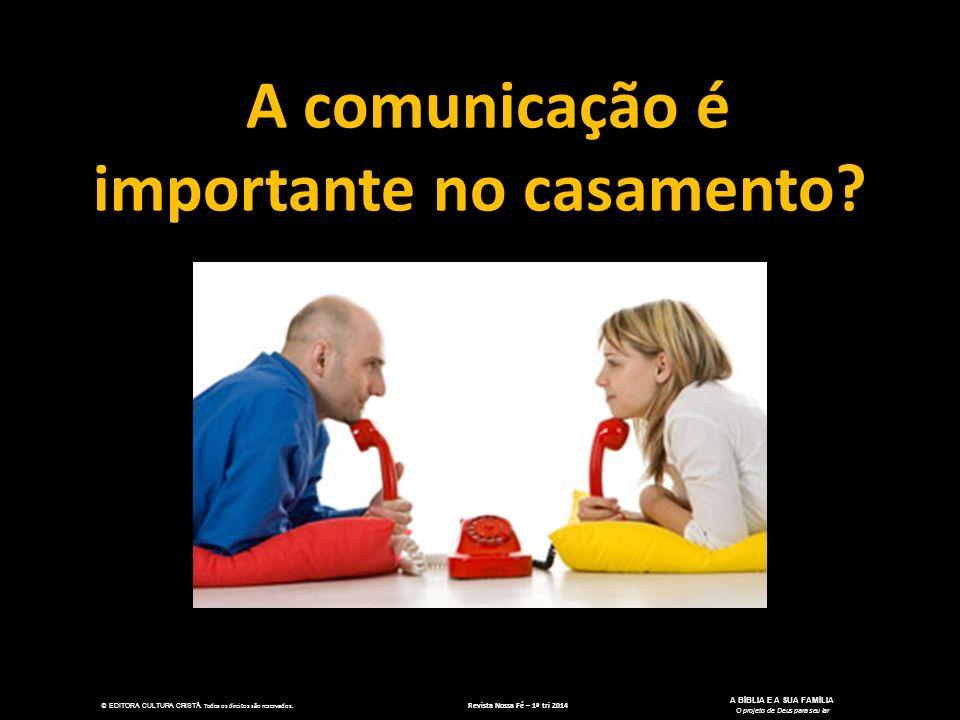 A comunicação é importante no casamento