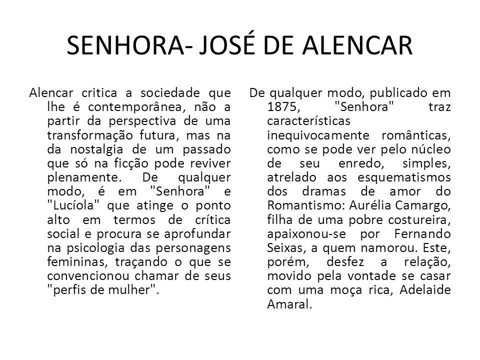 SENHORA- JOSÉ DE ALENCAR