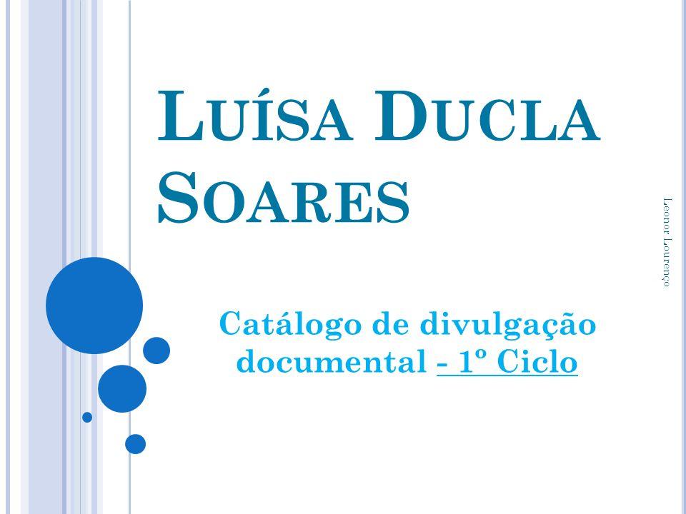 Catálogo de divulgação documental - 1º Ciclo