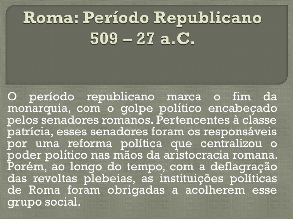 Roma: Período Republicano 509 – 27 a.C.
