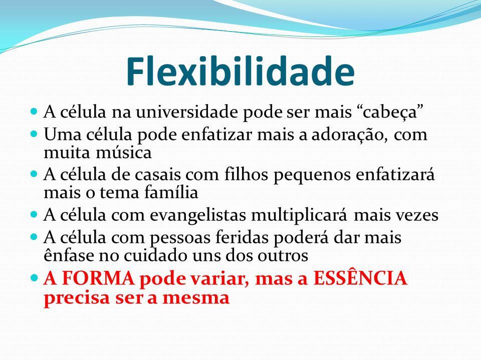 Flexibilidade A FORMA pode variar, mas a ESSÊNCIA precisa ser a mesma