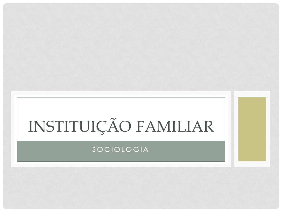 Instituição Familiar Sociologia