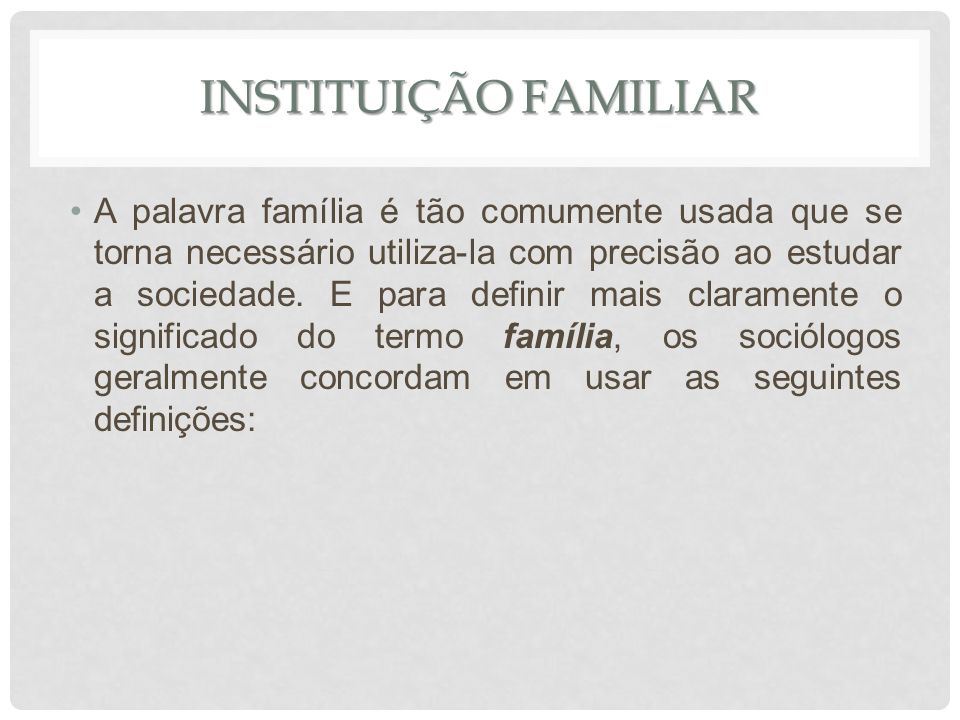 Instituição familiar