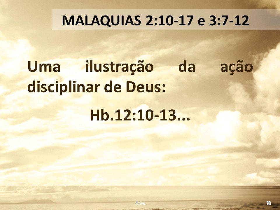 Uma ilustração da ação disciplinar de Deus: Hb.12:10-13...