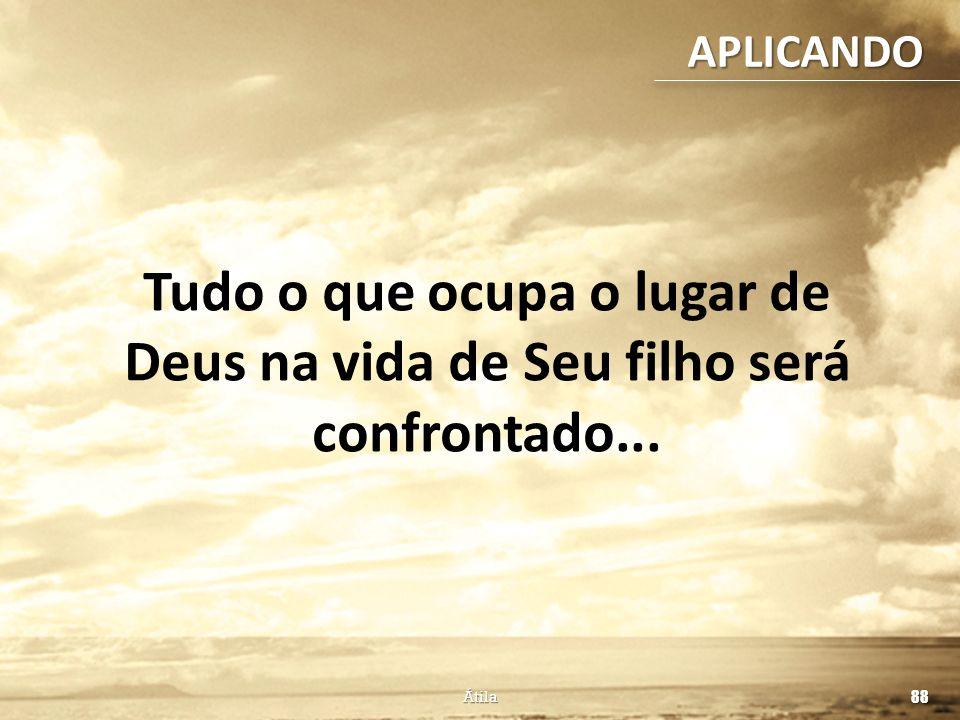APLICANDO Tudo o que ocupa o lugar de Deus na vida de Seu filho será confrontado... Como saber se estou sendo disciplinado por Deus