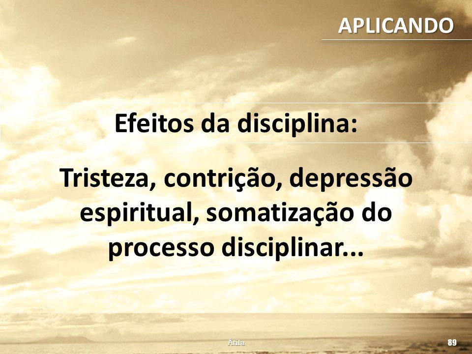 Efeitos da disciplina: