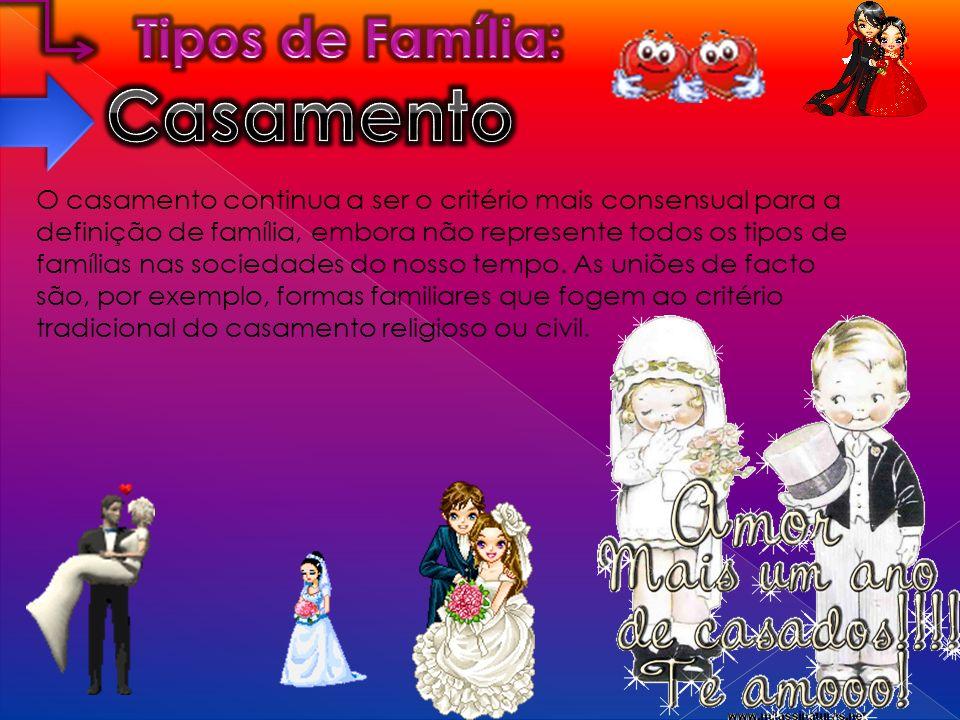 Casamento Tipos de Família: