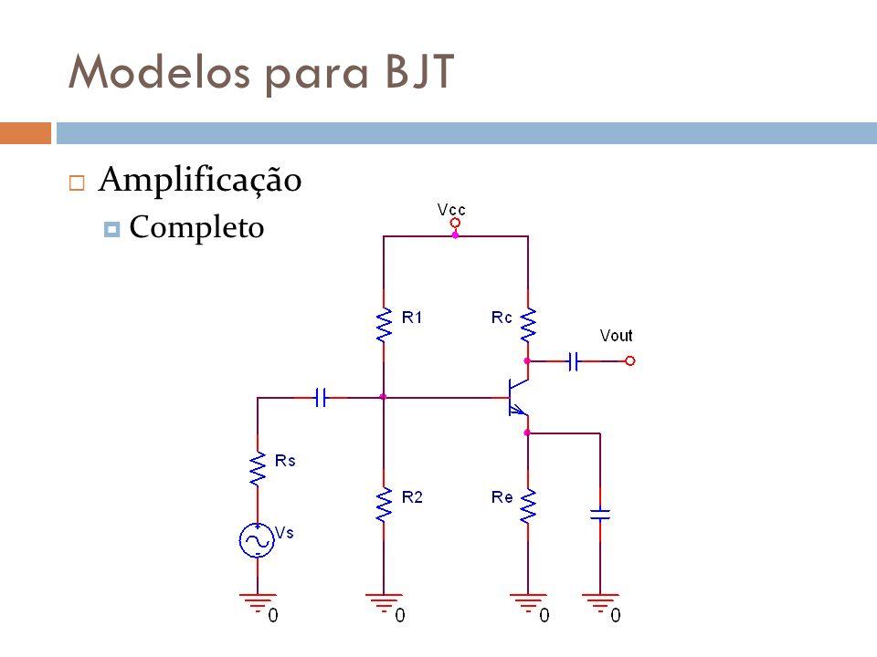Modelos para BJT Amplificação Completo
