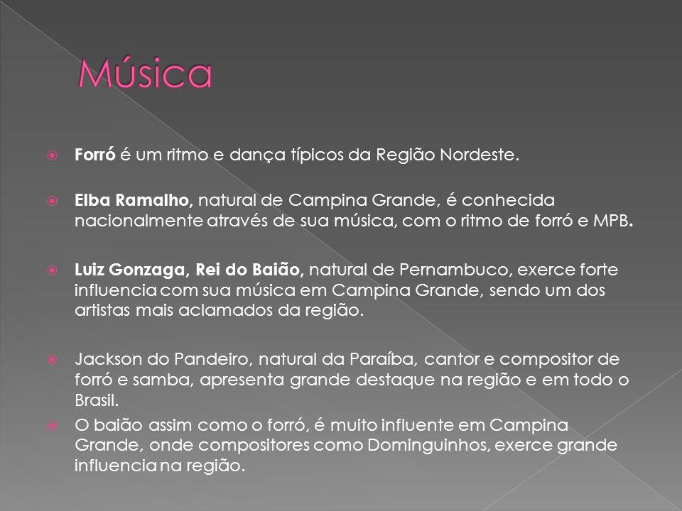 Música Forró é um ritmo e dança típicos da Região Nordeste.