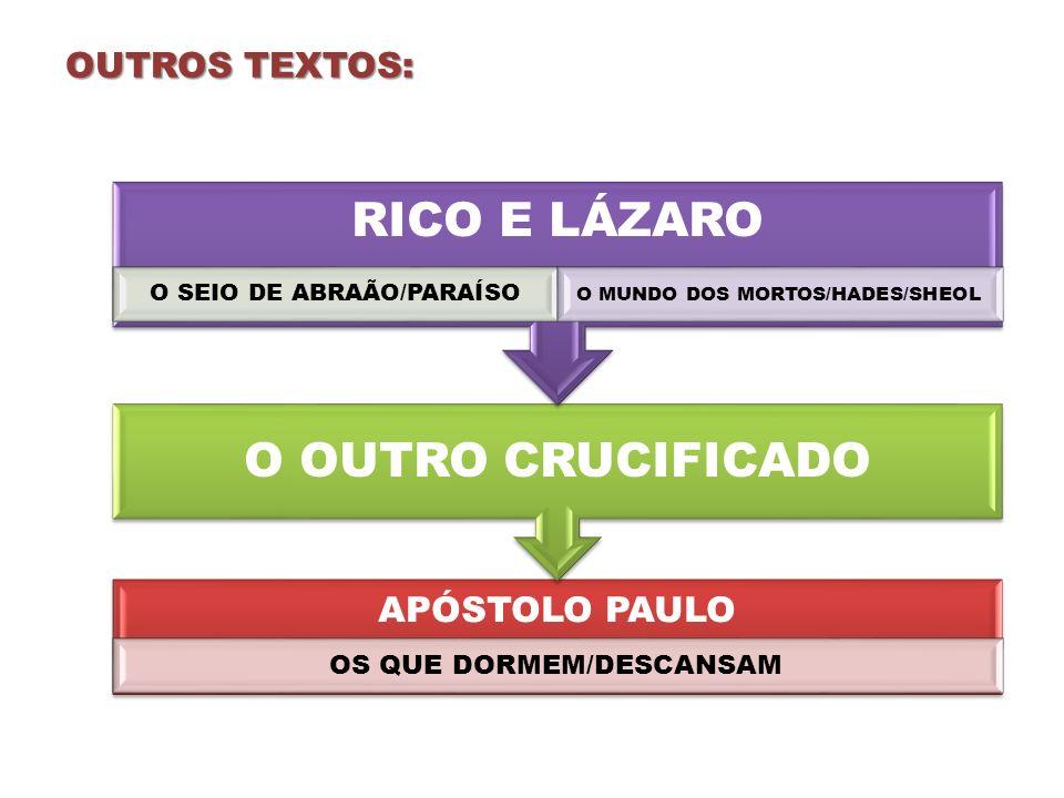 O OUTRO CRUCIFICADO RICO E LÁZARO OUTROS TEXTOS: APÓSTOLO PAULO