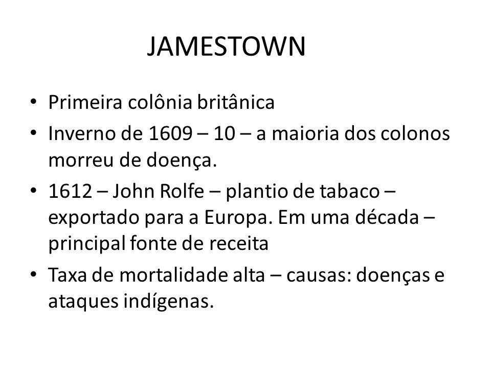 JAMESTOWN Primeira colônia britânica