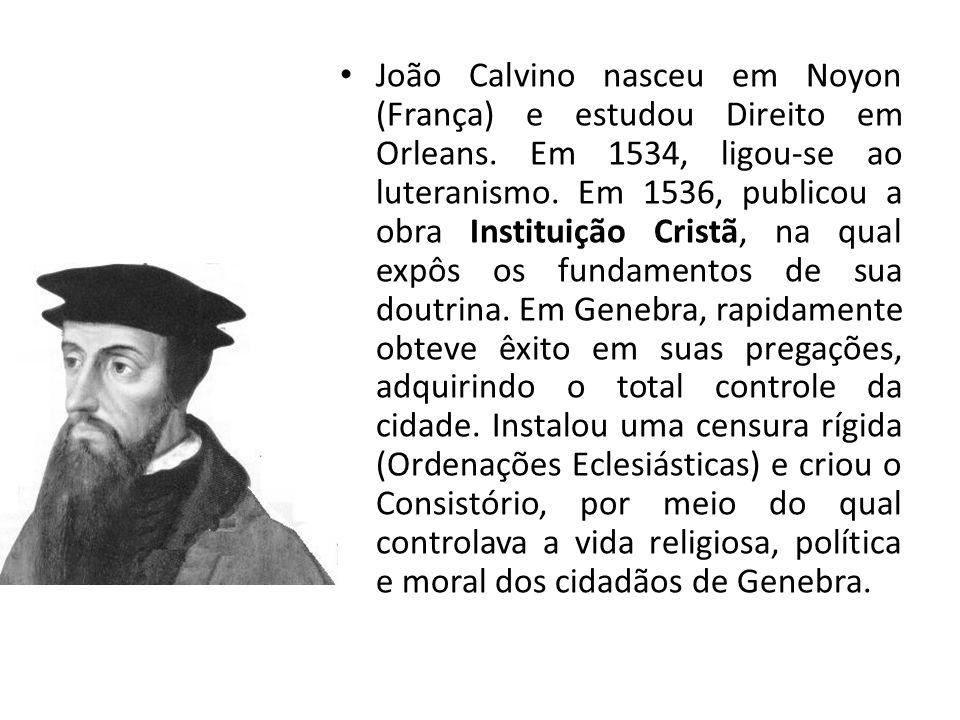 João Calvino nasceu em Noyon (França) e estudou Direito em Orleans