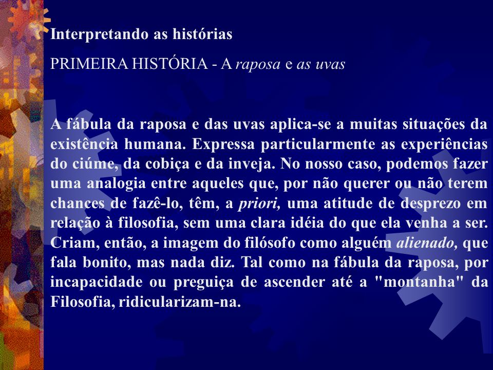 Interpretando as histórias