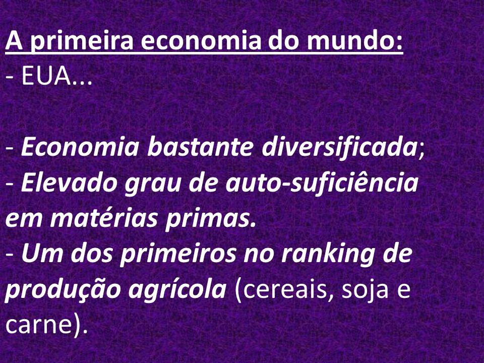 A primeira economia do mundo: - EUA