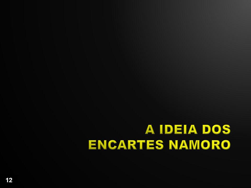 A IDEIA DOS ENCARTES NAMORO