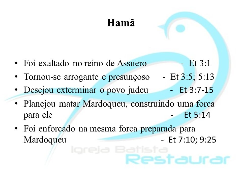 Hamã Foi exaltado no reino de Assuero - Et 3:1