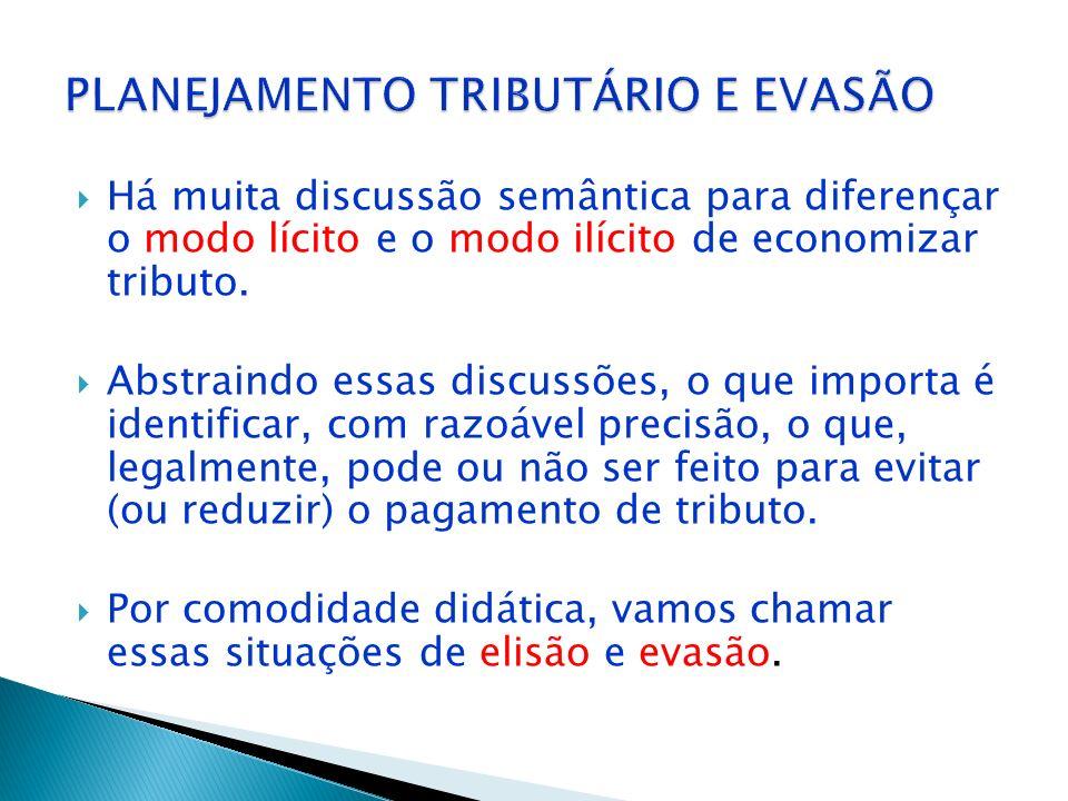PLANEJAMENTO TRIBUTÁRIO E EVASÃO