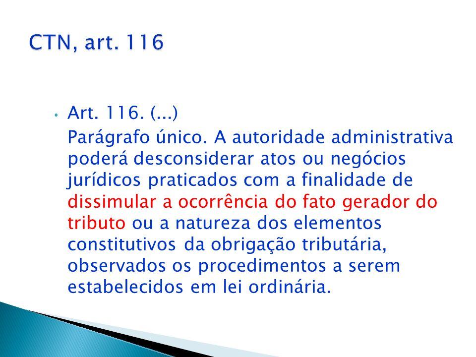 CTN, art. 116 Art. 116. (...)