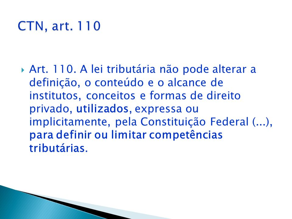 CTN, art. 110