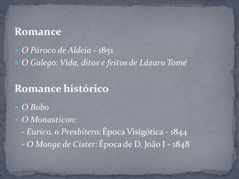 Romance Romance histórico O Pároco de Aldeia - 1851