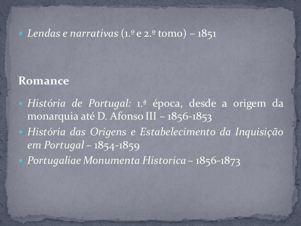 Romance Lendas e narrativas (1.º e 2.º tomo) – 1851