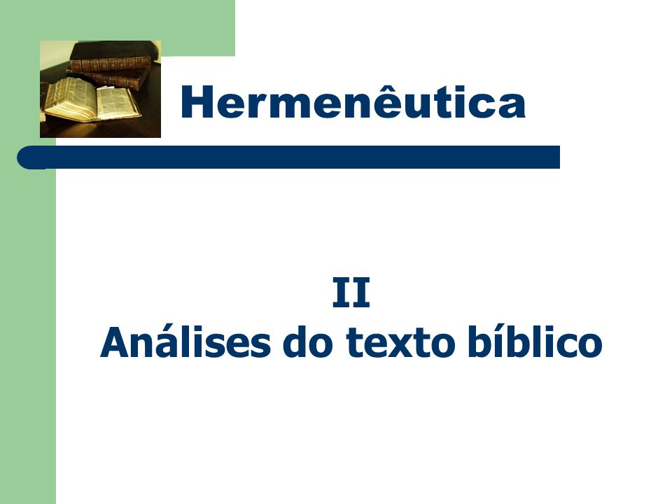 Análises do texto bíblico
