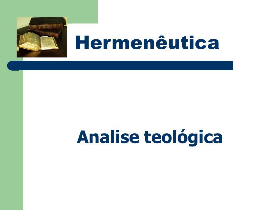 Hermenêutica Analise teológica