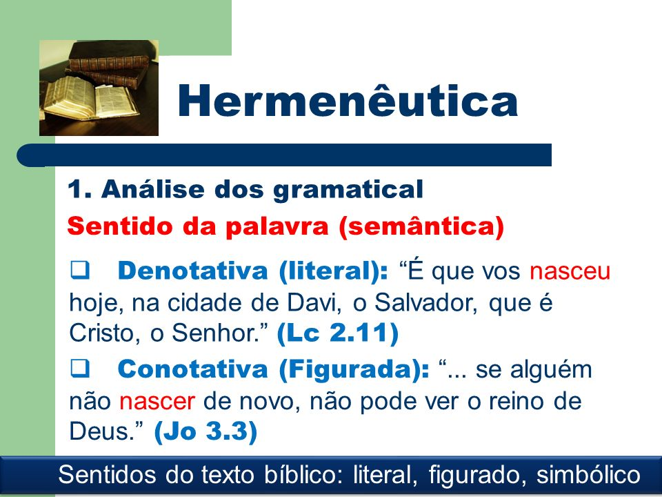Sentidos do texto bíblico: literal, figurado, simbólico