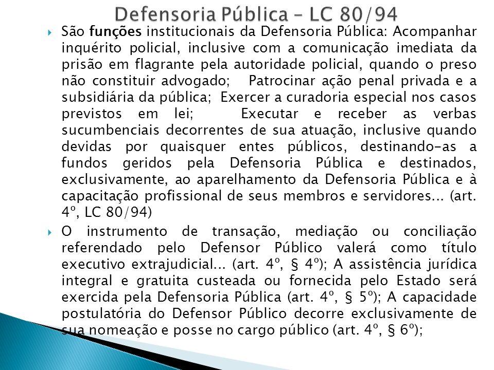 Defensoria Pública – LC 80/94
