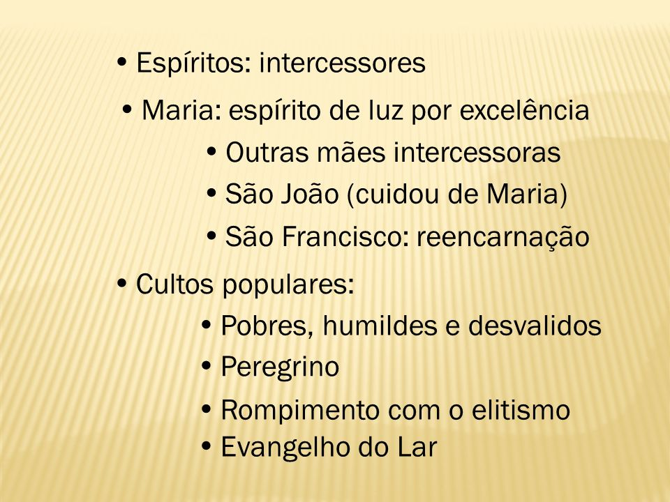  Espíritos: intercessores