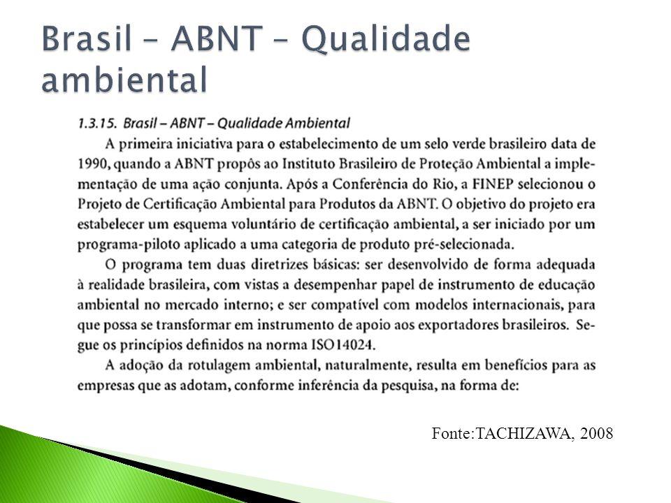 Brasil – ABNT – Qualidade ambiental