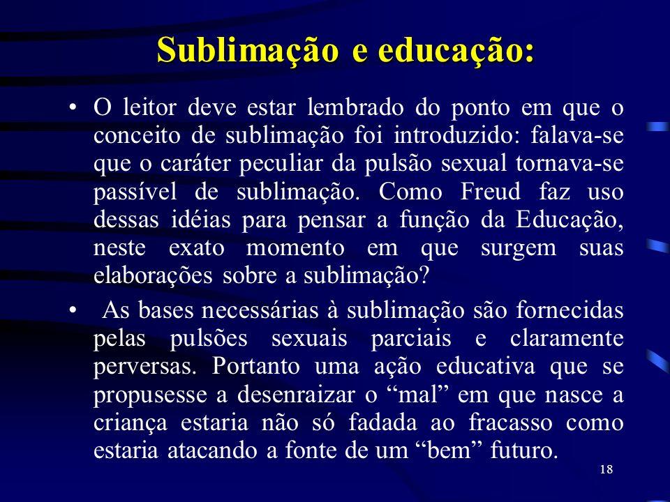 Sublimação e educação: