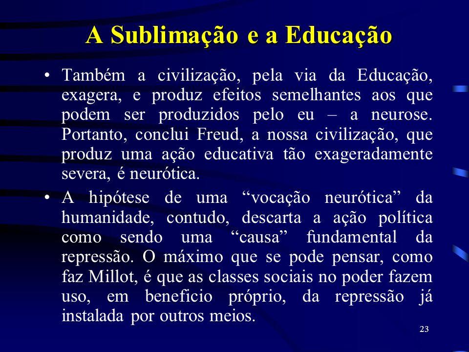 A Sublimação e a Educação