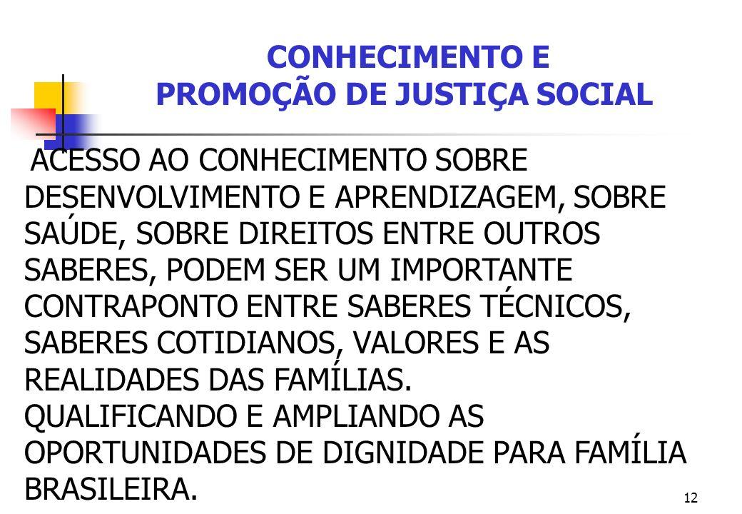 PROMOÇÃO DE JUSTIÇA SOCIAL