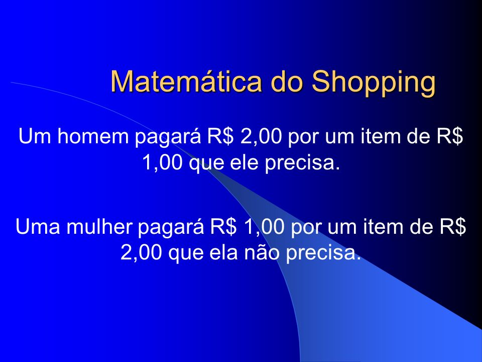 Matemática do Shopping