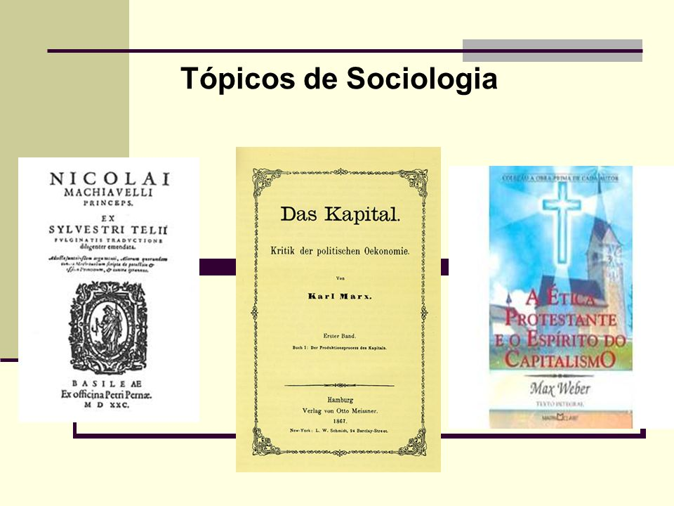 Tópicos de Sociologia